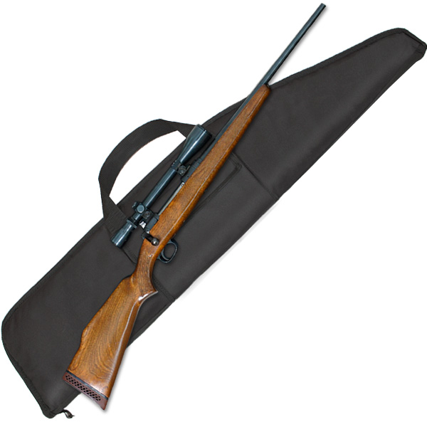 Scoped Rifle Case with Pocket (Various Sizes) Black Nylon