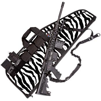 Deluxe Heavy-Duty AR Case (5 Sizes) Zebra Print