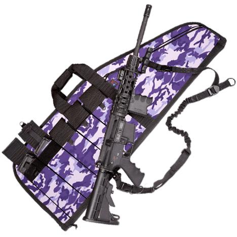 Deluxe Heavy-Duty AR Case (5 Sizes) Purple Camo