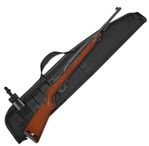 "M1 Carbine Rifle Case (7""x38"") 5 Mag Pockets - Black Nylon"