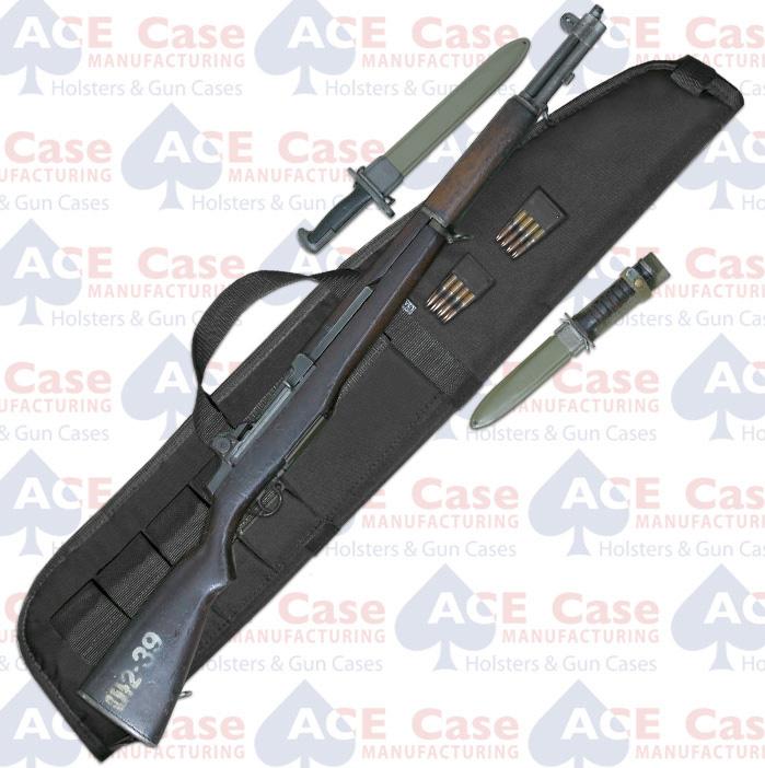 "M1 Garand Rifle Case (7""x44.25"") Black Nylon"