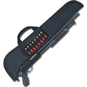 Pistol Grip Shotgun Case with Cartridge Carrier - Black Nylon