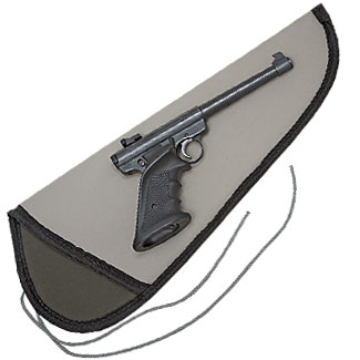 Sleeve Type String Tie Case for Pistols (Large) Heavy-Duty Fabric