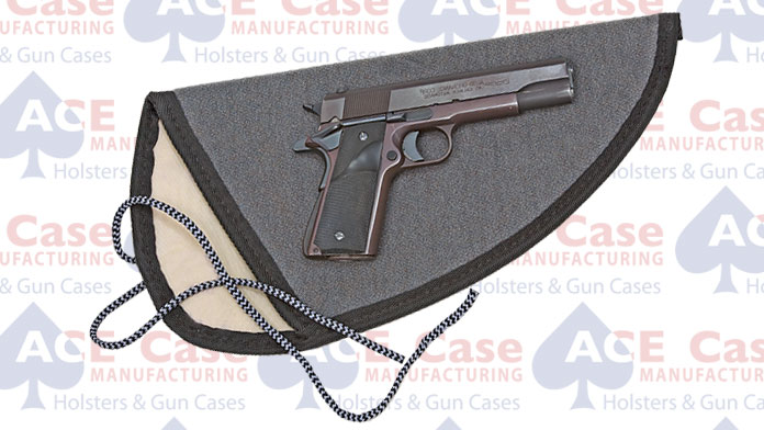 Sleeve Type String Tie Case for Pistols (Small) Heavy-Duty Fabric