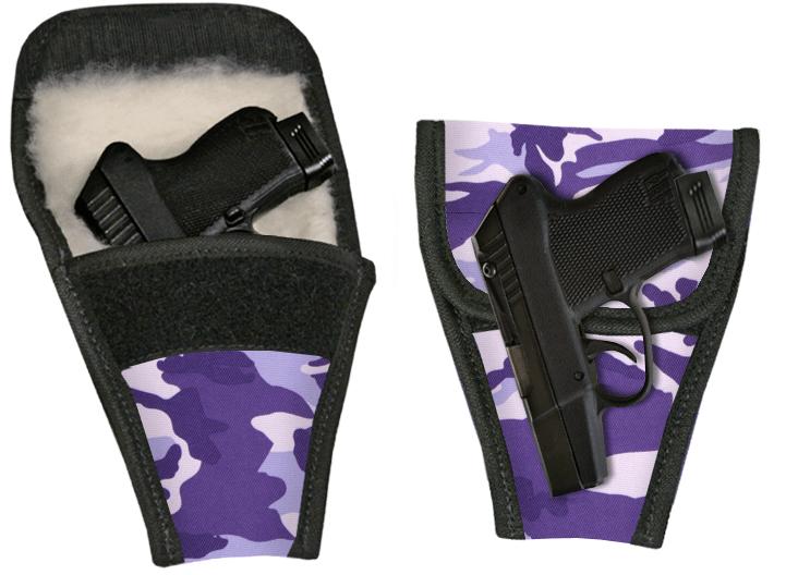 Ladies Purse Pistol Gun Holster - Purple Camo