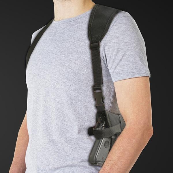 Single Horiz. Shoulder Holster w Harness (Various Sizes) Nylon