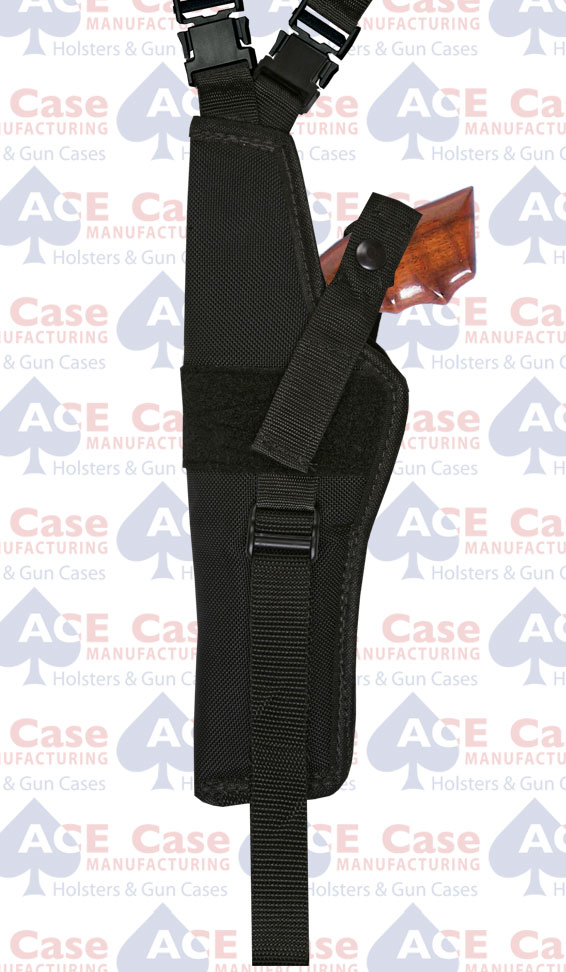 Vert. Shoulder Holsters w Harness & Ammo Pouch (Various Sizes) Nylon